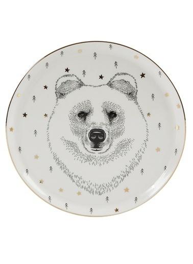Porland Forest Bear Düz Tabak 20cm Renkli
